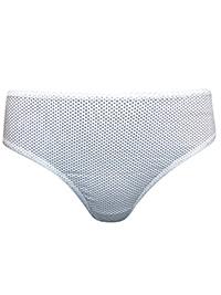 M&5 WHITE Cotton Rich Polka Dot Brazilian Knickers - Plus Size 20