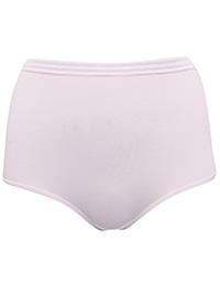 M&5 PINK  Striped Mesh Waist Modal Blend Full Briefs - Size 10 to 22