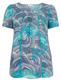 P3rUna MULTI Fan Print Shell Top - Size 6 to 14