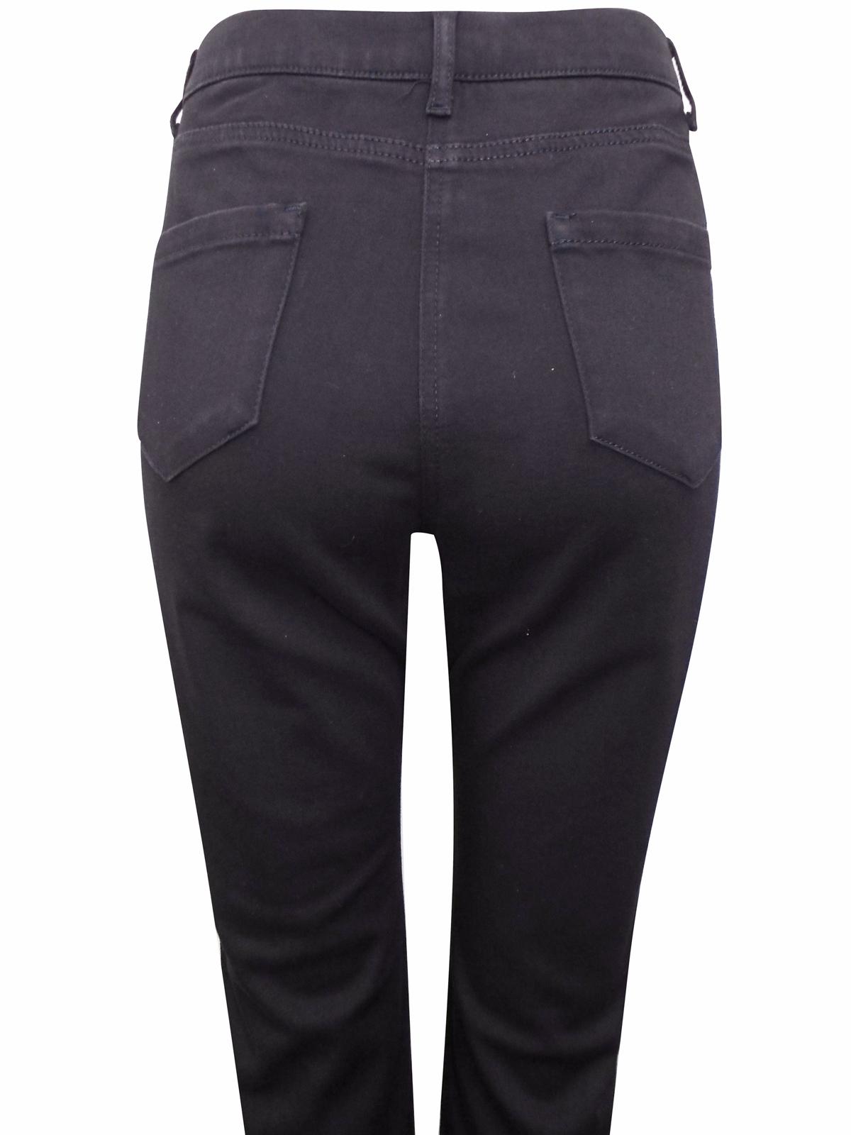 M/&S PER UNA Zipped Pocket ROMA RISE Straight Leg Trousers  /'NAVY/'