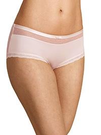 M&5 BLUSH Lace Trim Low Rise Shorts - Size 10 to 20