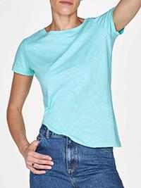 Th0ught JADE-GREEN Organic Cotton Short Sleeve T-Shirt - Plus Size 12 to 18