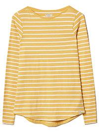 Fat Face YELLOW Dandelion Organic Cotton Breton T-Shirt - Size 6 to 16