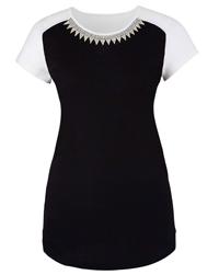 Anthology BLACK Embellished Jersey Top - Plus Size 12 to 32