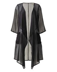 Anthology BLACK Longline Chiffon Kimono - Plus Size 14 to 24