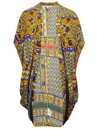 SimplyBe YELLOW Festival Print Cocoon Kimono - Plus Size 16/18 to 28/30