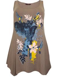 Marina Kaneva FAWN Paradise Lost Floral Print Hanky Hem Tunic - Plus Size 16 to 30/32