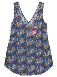 Joe Browns BLUE Sleeveless Printed Swing Top - Plus Size 24 to 28