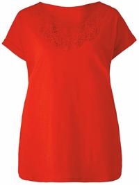 Capsule TOMATO Crochet Neck Short Sleeve T-Shirt - Size 10 to 30