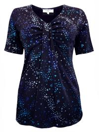 Karida BLACK Tab Neck Glitter Top - Size 12 to 20 (Small to XXLarge)
