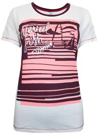 We1rdFish Light CREAM Fishing Graphic Print Cotton T-shirt - Size 8 to 18