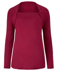 Anthology CHERRY Shawl Collar Jersey Bolero Top - Size 10 to 22