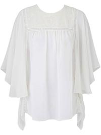 SimplyBe IVORY Drape Sleeve Blouse - Plus Size 12 to 28