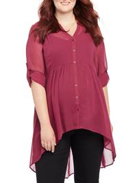 Motherhood Maternity CHERRY Convertible Sleeve Blouse - Size 18/20 XLarge