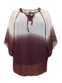 3VANS Spirit & Sands WINE Studded Ombre Kaftan Top - Plus Size 18 to 26