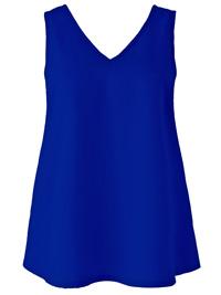 Anthology COBALT Woven V-Neck Vest Top - Plus Size 12 to 32