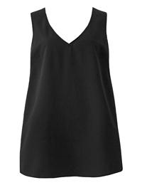 Anthology BLACK Woven V-Neck Vest Top - Plus Size 14 to 32