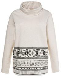 Ulla Popk3n OFF-WHITE Pure Cotton Embroidered Border Sweatshirt - Plus Size 16/18 to 32/34