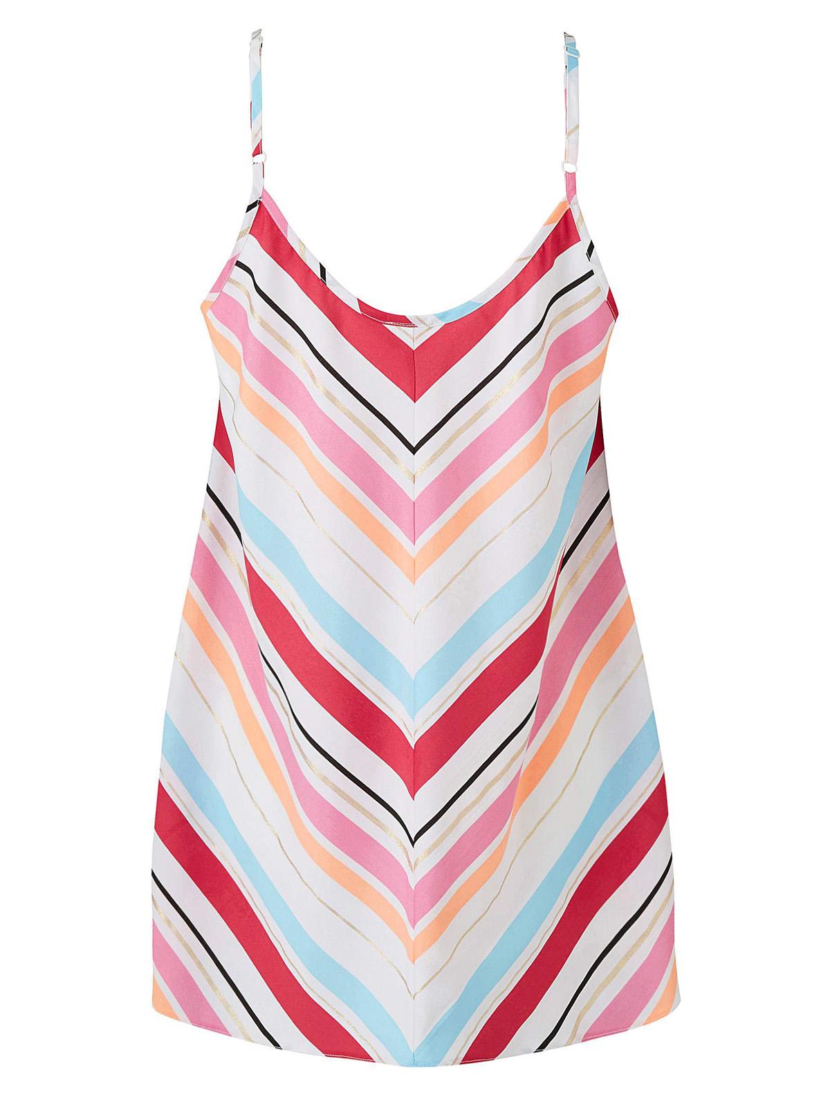 3vans pink strappy secret support cami vest in sizes 14-32