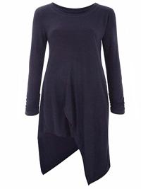 Anthology BLACK Petite Asymmetric Jersey Tunic - Plus Size 12 to 22