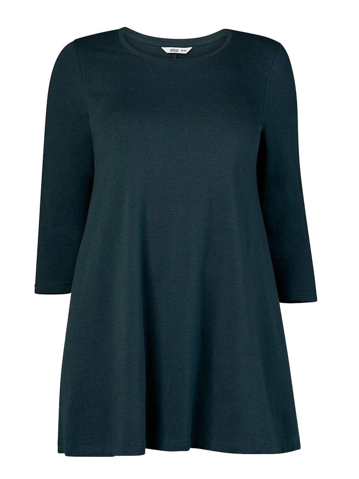 Ellos Ellos Dark Green Cotton Jersey A Line Tunic