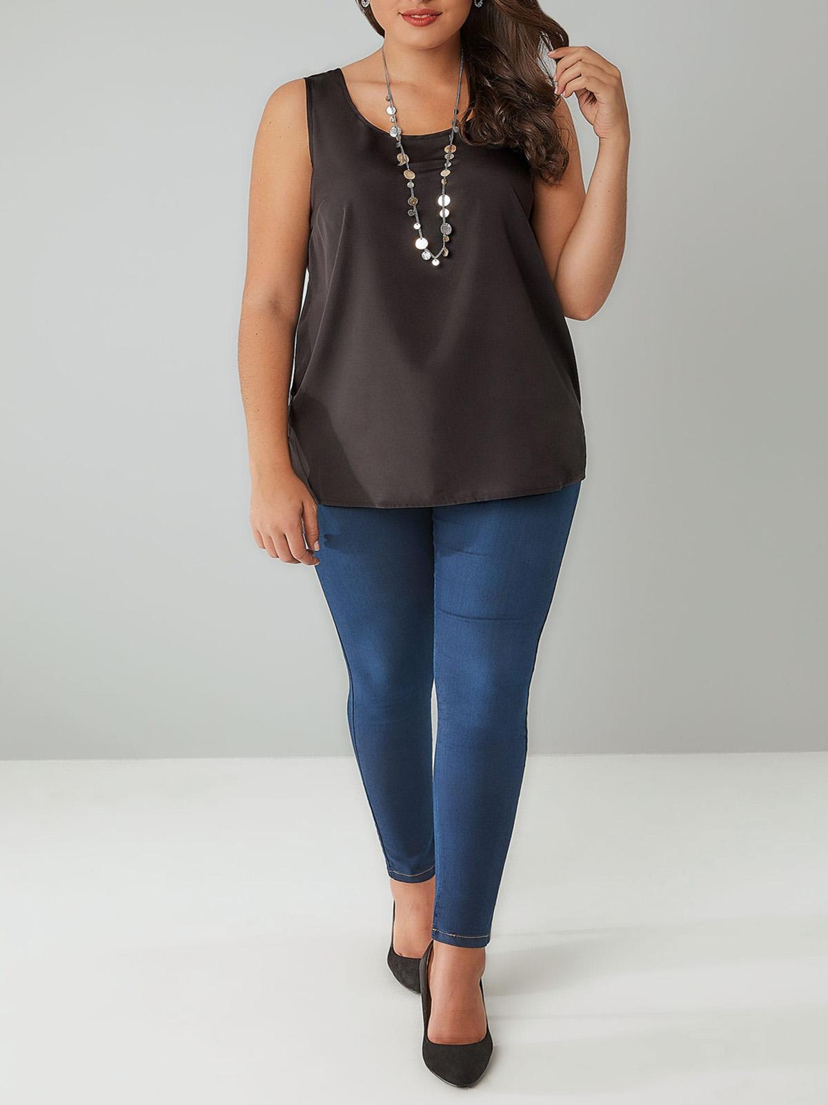 Plus Size White Co Ord Side Split A Line Skirt