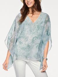 Linea Tesini PALE-GREEN Embellished Trim Kaftan & Cami - Size 8 to 26/28