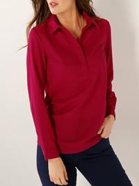 Blancheporte BERRY Long SleeveWoven Shirt - Plus Size 12 to 28 (EU 38 to 54)