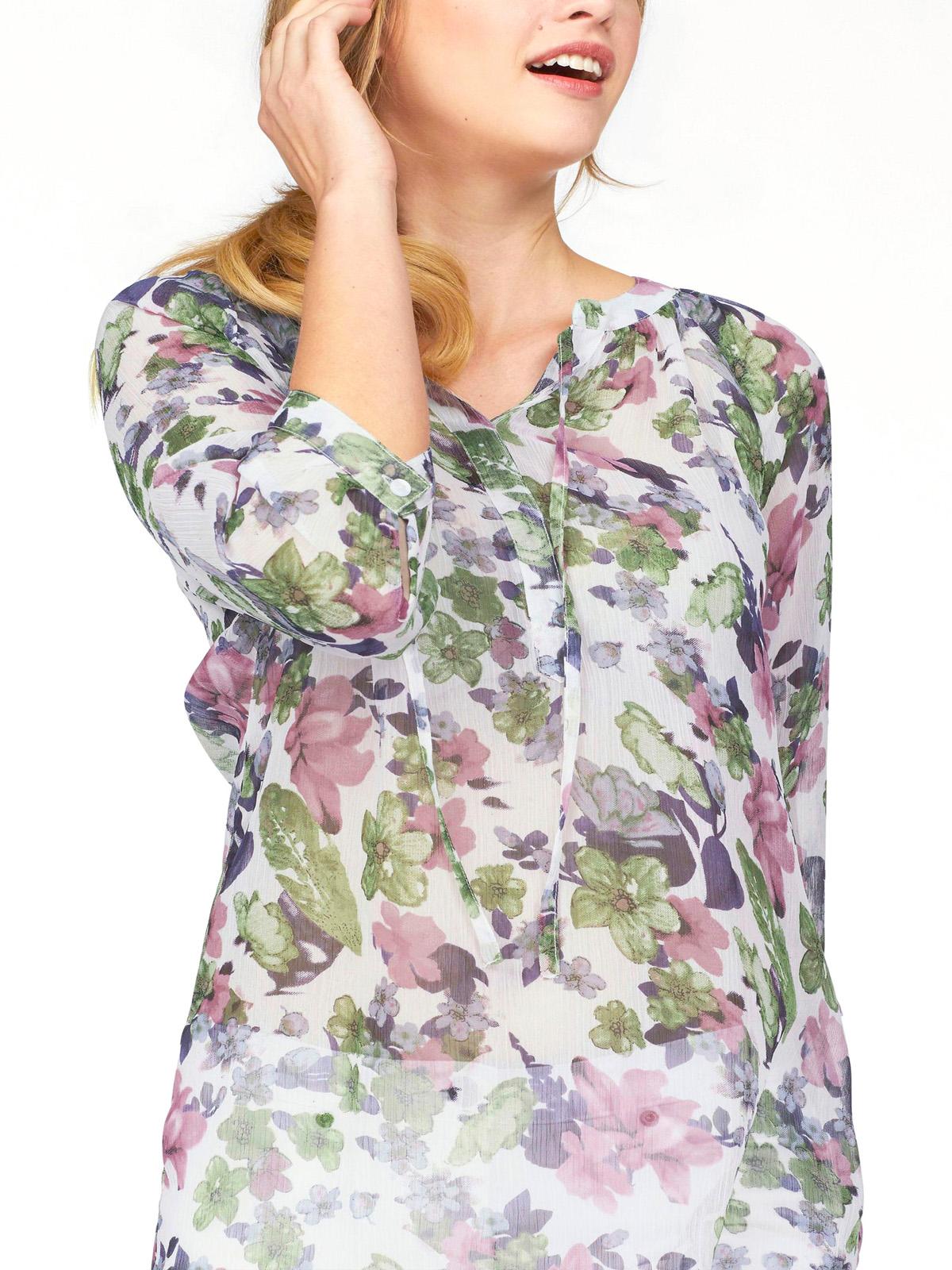 Joe Browns ladies blouse shirt plus size 18 22 24 28 white floral print longline