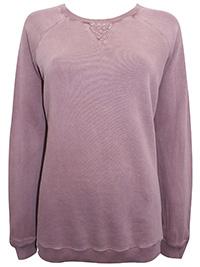 Fat Face LIGHT-MAUVE Crew Neck Sweater Top - Size 12