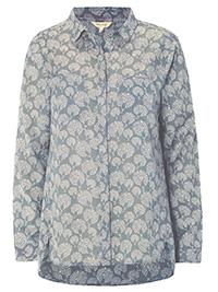 WH1TE STUFF BLUE/GREEN Ceramic Endless Print Shirt - Size 6 to 18