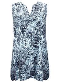Miss Milla BLACK Britta Printed Sleeveless Tunic - Size 6/8 to 22/24 (XS to XL)