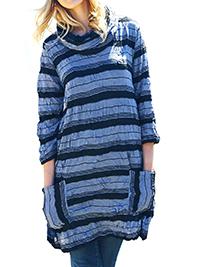 Adini BLUE Zinc Sasha Stripe Onyx Tunic - Size 10 to 14