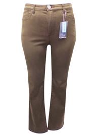FDJ TAUPE Suzanne Slim Leg Denim Jeans - Size 8 to 22