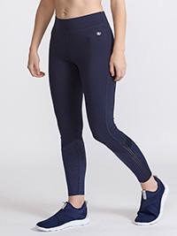 DUNN3S NAVY Panelled Sports Leggings - Size Medium to Large