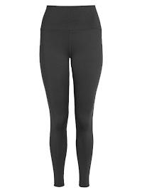 BLACK Panelled Sports Leggings - Size 6
