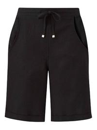 Capsule BLACK Linen Blend Shorts - Size 10 to 32