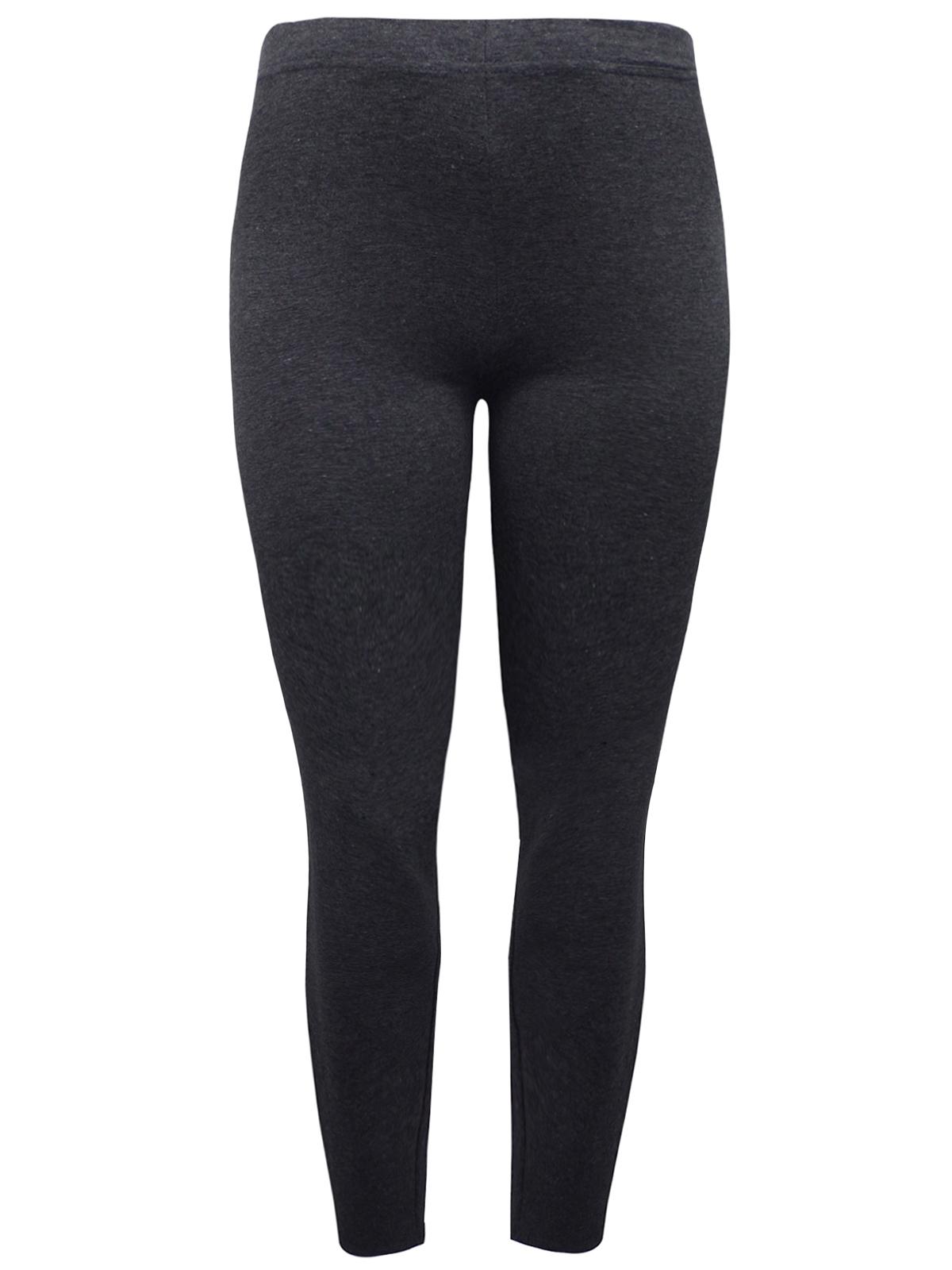2fa5a59d02b6c0 RedTag CHARCOAL Melange Cotton Rich Opaque Full Length Leggings - Plus Size  18 to 26. SKU[33285]