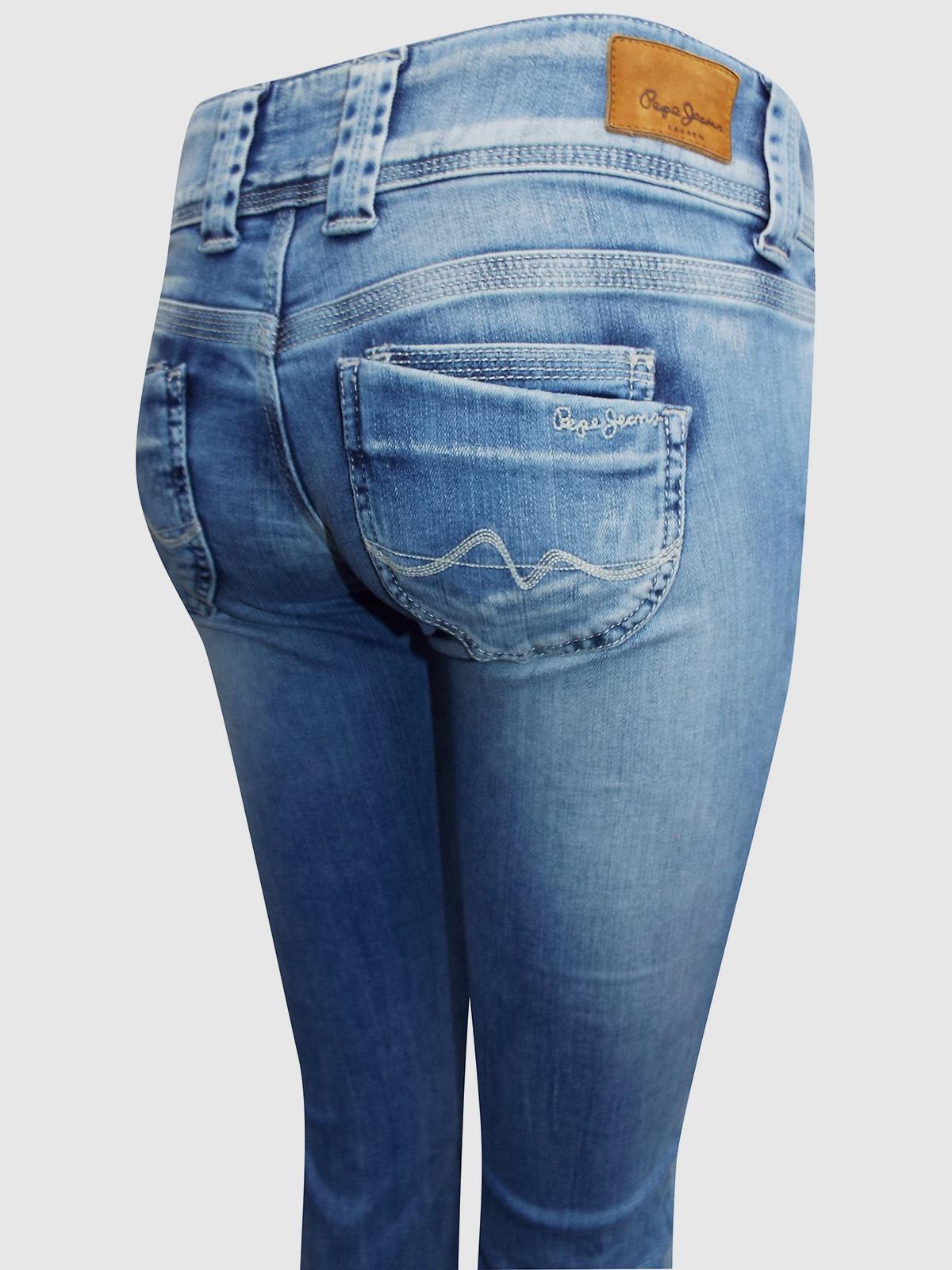 Pepe Jeans LIGHT-DENIM Venus Low Rise Regular Fit Straight Leg Denim Jeans
