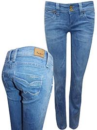 Pepe Jeans LIGHT-DENIM Banji Regular Fit Low Waist Denim Jeans - Waist Size 28 (Lengths 30in-32in)