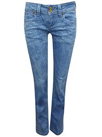 Pepe Jeans LIGHT-DENIM Banji Regular Fit Low Waist Denim Jeans - Waist Size 27 to 29 (Lengths 32in-34in)