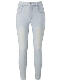 SimplyBe LIGHT-VINTAGE-BLEACH Regular Chloe Skinny Jeans - Plus Size 30 to 32