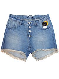 Tuttu Frutti DENIM Frayed Hem Denim Shorts - Size 8 to 18 (EU 34 to 44)