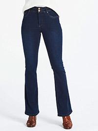 SimplyBe INDIGO Petite Shape & Sculpt High Waist Bootcut Jeans - Plus Size 28 to 32