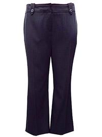 3VANS BLACK Straight Leg Trousers - Plus Size 14 to 32