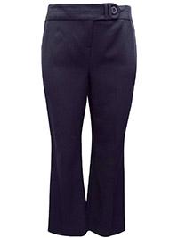 3VANS BLACK Straight Leg Trousers - Plus Size 16 to 32